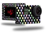 Pastel Hearts on Black - Decal Style Skin fits GoPro Hero 4 Silver Camera (GOPRO SOLD SEPARATELY)