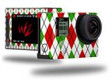 Argyle Red and Green - Decal Style Skin fits GoPro Hero 4 Silver Camera (GOPRO SOLD SEPARATELY)