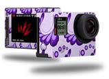 Petals Purple - Decal Style Skin fits GoPro Hero 4 Silver Camera (GOPRO SOLD SEPARATELY)