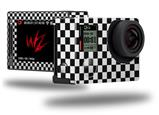 Checkered Canvas Black and White - Decal Style Skin fits GoPro Hero 4 Silver Camera (GOPRO SOLD SEPARATELY)