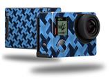 Retro Houndstooth Blue - Decal Style Skin fits GoPro Hero 4 Black Camera (GOPRO SOLD SEPARATELY)