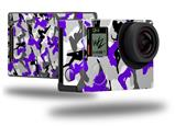 Sexy Girl Silhouette Camo Purple - Decal Style Skin fits GoPro Hero 4 Black Camera (GOPRO SOLD SEPARATELY)