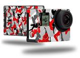 Sexy Girl Silhouette Camo Red - Decal Style Skin fits GoPro Hero 4 Black Camera (GOPRO SOLD SEPARATELY)