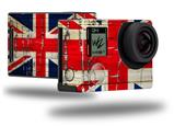 Painted Faded and Cracked Union Jack British Flag - Decal Style Skin fits GoPro Hero 4 Black Camera (GOPRO SOLD SEPARATELY)