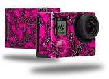 Scattered Skulls Hot Pink - Decal Style Skin fits GoPro Hero 4 Black Camera (GOPRO SOLD SEPARATELY)