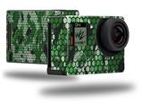 HEX Mesh Camo 01 Green - Decal Style Skin fits GoPro Hero 4 Black Camera (GOPRO SOLD SEPARATELY)