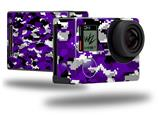 WraptorCamo Digital Camo Purple - Decal Style Skin fits GoPro Hero 4 Black Camera (GOPRO SOLD SEPARATELY)