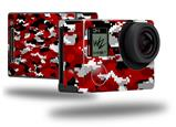 WraptorCamo Digital Camo Red - Decal Style Skin fits GoPro Hero 4 Black Camera (GOPRO SOLD SEPARATELY)