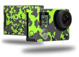 WraptorCamo Old School Camouflage Camo Lime Green - Decal Style Skin fits GoPro Hero 4 Black Camera (GOPRO SOLD SEPARATELY)