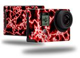 Electrify Red - Decal Style Skin fits GoPro Hero 4 Black Camera (GOPRO SOLD SEPARATELY)