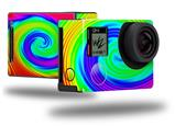Rainbow Swirl - Decal Style Skin fits GoPro Hero 4 Black Camera (GOPRO SOLD SEPARATELY)