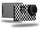 Checkered Canvas Black and White - Decal Style Skin fits GoPro Hero 4 Black Camera (GOPRO SOLD SEPARATELY)