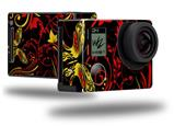 Twisted Garden Red and Yellow - Decal Style Skin fits GoPro Hero 4 Black Camera (GOPRO SOLD SEPARATELY)