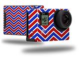 Zig Zag Red White and Blue - Decal Style Skin fits GoPro Hero 4 Black Camera (GOPRO SOLD SEPARATELY)