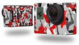 Sexy Girl Silhouette Camo Red - Decal Style Skin fits GoPro Hero 3+ Camera (GOPRO NOT INCLUDED)