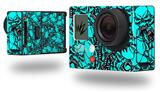 Scattered Skulls Neon Teal - Decal Style Skin fits GoPro Hero 3+ Camera (GOPRO NOT INCLUDED)