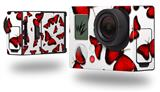 Butterflies Red - Decal Style Skin fits GoPro Hero 3+ Camera (GOPRO NOT INCLUDED)
