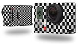 Checkered Canvas Black and White - Decal Style Skin fits GoPro Hero 3+ Camera (GOPRO NOT INCLUDED)