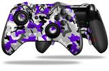 Sexy Girl Silhouette Camo Purple - Decal Style Skin fits Microsoft XBOX One ELITE Wireless Controller (CONTROLLER NOT INCLUDED)