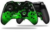 HEX Green - Decal Style Skin fits Microsoft XBOX One ELITE Wireless Controller (CONTROLLER NOT INCLUDED)
