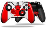 Canadian Canada Flag - Decal Style Skin fits Microsoft XBOX One ELITE Wireless Controller (CONTROLLER NOT INCLUDED)