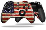 Painted Faded and Cracked USA American Flag - Decal Style Skin fits Microsoft XBOX One ELITE Wireless Controller (CONTROLLER NOT INCLUDED)