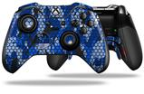 HEX Mesh Camo 01 Blue Bright - Decal Style Skin fits Microsoft XBOX One ELITE Wireless Controller (CONTROLLER NOT INCLUDED)