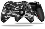 WraptorCamo Digital Camo Gray - Decal Style Skin fits Microsoft XBOX One ELITE Wireless Controller (CONTROLLER NOT INCLUDED)