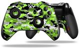WraptorCamo Digital Camo Neon Green - Decal Style Skin fits Microsoft XBOX One ELITE Wireless Controller (CONTROLLER NOT INCLUDED)