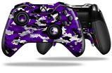 WraptorCamo Digital Camo Purple - Decal Style Skin fits Microsoft XBOX One ELITE Wireless Controller (CONTROLLER NOT INCLUDED)