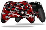 WraptorCamo Digital Camo Red - Decal Style Skin fits Microsoft XBOX One ELITE Wireless Controller (CONTROLLER NOT INCLUDED)
