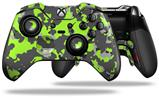 WraptorCamo Old School Camouflage Camo Lime Green - Decal Style Skin fits Microsoft XBOX One ELITE Wireless Controller (CONTROLLER NOT INCLUDED)