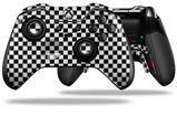 Checkered Canvas Black and White - Decal Style Skin fits Microsoft XBOX One ELITE Wireless Controller (CONTROLLER NOT INCLUDED)