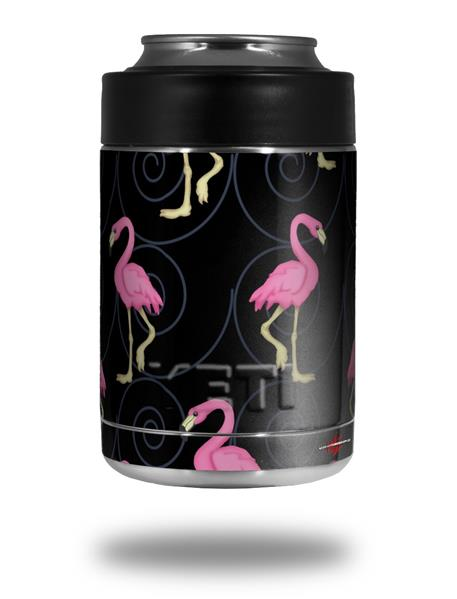 Yeti Colster Can Skins Flamingos On Black Wraptorskinz