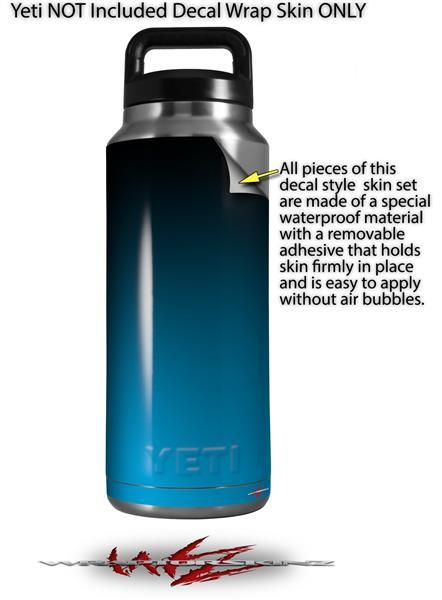 ee753fb6455 Yeti Rambler Bottle 36oz Smooth Fades Neon Blue Black | WraptorSkinz