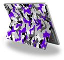 Decal Style Vinyl Skin for Microsoft Surface Pro 4 - Sexy Girl Silhouette Camo Purple -  (SURFACE NOT INCLUDED)