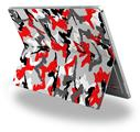 Decal Style Vinyl Skin for Microsoft Surface Pro 4 - Sexy Girl Silhouette Camo Red -  (SURFACE NOT INCLUDED)