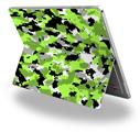 Decal Style Vinyl Skin for Microsoft Surface Pro 4 - WraptorCamo Digital Camo Neon Green -  (SURFACE NOT INCLUDED)