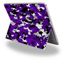 Decal Style Vinyl Skin for Microsoft Surface Pro 4 - WraptorCamo Digital Camo Purple -  (SURFACE NOT INCLUDED)