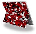 Decal Style Vinyl Skin for Microsoft Surface Pro 4 - WraptorCamo Digital Camo Red -  (SURFACE NOT INCLUDED)