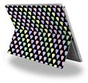 Decal Style Vinyl Skin for Microsoft Surface Pro 4 - Pastel Hearts on Black -  (SURFACE NOT INCLUDED)