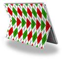 Decal Style Vinyl Skin for Microsoft Surface Pro 4 - Argyle Red and Green -  (SURFACE NOT INCLUDED)