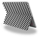 Decal Style Vinyl Skin for Microsoft Surface Pro 4 - Checkered Canvas Black and White -  (SURFACE NOT INCLUDED)