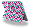 Decal Style Vinyl Skin for Microsoft Surface Pro 4 - Zig Zag Teal Pink Purple -  (SURFACE NOT INCLUDED)