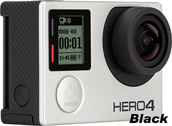 Custom Decal Style Skin fits GoPro Hero 4 Black Camera (GOPRO SOLD SEPARATELY)