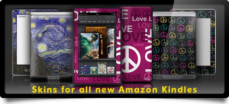 All new 2011 skins for Amazon Kindles